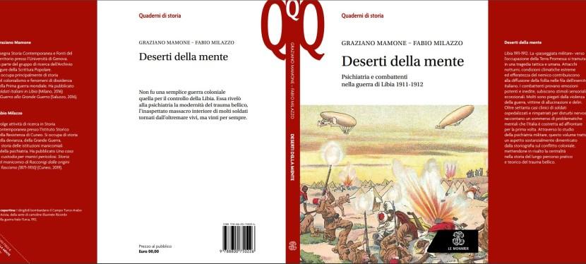 """Recensione a """"Deserti della mente. Psichiatria e combattenti nella guerra di Libia 1911-1912, Le Monnier, Milano 2019 (conG.Mamone) e segnalazione di uncontributo."""